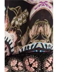 Etro - Multicolor Embellished Printed Silk Gown - Lyst