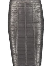 Hervé Léger | Multicolor Metallic Bandage Pencil Skirt | Lyst