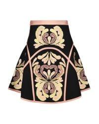 Hervé Léger | Black Leilani Jacquard-knit Mini Skirt | Lyst
