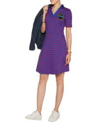 Être Cécile - Blue Striped Cotton-jersey Mini Dress - Lyst