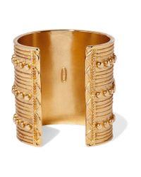 Ben-Amun - Green Gold-tone Cuff - Lyst