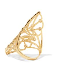 Noir Jewelry - Metallic Gold-tone Crystal Ring - Lyst