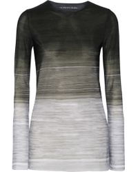 Norma Kamali | Gray Printed Stretch-jersey Top | Lyst