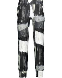 Norma Kamali | Multicolor Printed Stretch-jersey Track Pants | Lyst
