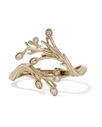 Oscar de la Renta | Metallic Gold-plated Crystal Bracelet | Lyst