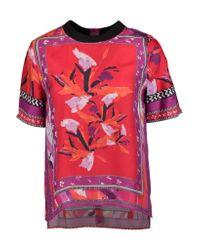 Diane von Furstenberg | Pink Dayle Printed Silk-twill Top | Lyst