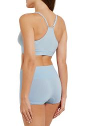 Yummie By Heather Thomson - Blue Mallory Stretch-jersey Soft-cup Bra - Lyst