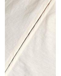 3.1 Phillip Lim - White Silk Chiffon-trimmed Cotton-jersey Top - Lyst
