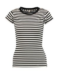 R13 | Multicolor Striped Cotton-jersey T-shirt | Lyst