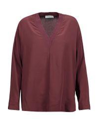 Sandro | Multicolor Elyette Silk Crepe De Chine Blouse | Lyst