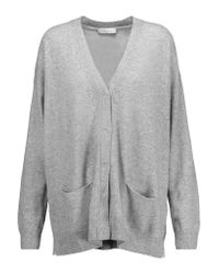 Sandro | Gray Girl Oversized Wool And Cashmere-blend Cardigan | Lyst