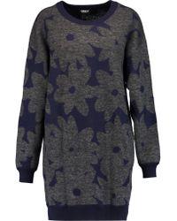 DKNY | Blue Intarsia-knit Sweater | Lyst