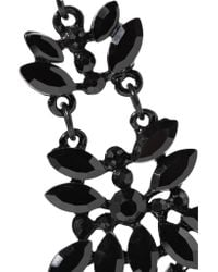 Kenneth Jay Lane - Black-tone Crystal Earrings - Lyst
