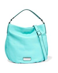 Marc By Marc Jacobs | Blue Hillier Textured-leather Shoulder Bag | Lyst