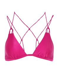 ViX | Pink Braided Triangle Bikini Top | Lyst