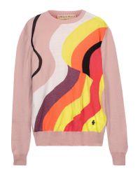 Emilio Pucci | Multicolor Metallic Intarsia Wool-blend Sweater | Lyst