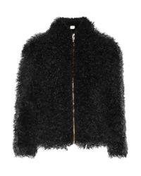 IRO - Black Kald Shearling Jacket - Lyst