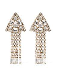 Elizabeth Cole | Metallic Ivyanne Gold-plated Swarovski Crystal Earrings | Lyst