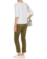 LNA - White Hacienda Striped Stretch-knit Sweatshirt - Lyst