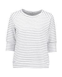 LNA | White Hacienda Striped Stretch-knit Sweatshirt | Lyst
