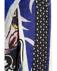 Etro   Blue Cotton-blend Jacquard Coat   Lyst
