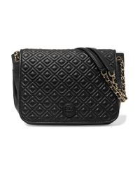 Tory Burch | Black Marion Quilted Leather Shoulder Bag | Lyst