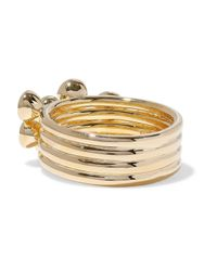 Elizabeth and James - Metallic Woman Gold-tone Crystal Ring Gold - Lyst