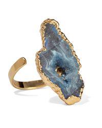 Dara Ettinger | Blue Gold-tone Stone Ring | Lyst