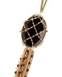 Rosantica - Black Ghiaccio Gold-tone, Stone And Bead Necklace - Lyst