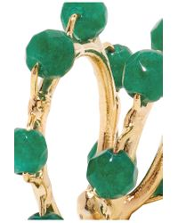 Rosantica - Green Acacia Set Of Two Gold-tone Bead Ear Cuffs - Lyst