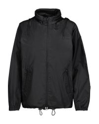 Y-3 | Black + Adidas Originals Shell And Mesh Hooded Jacket | Lyst