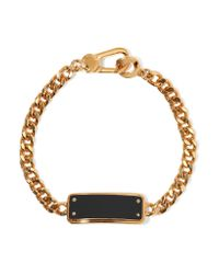 Marc By Marc Jacobs | Black Katie Gold-tone Enamel Bracelet | Lyst