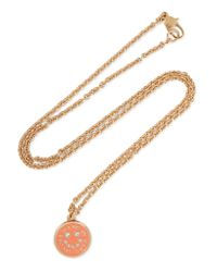 Marc By Marc Jacobs | Metallic Gold-tone, Crystal And Enamel Necklace | Lyst