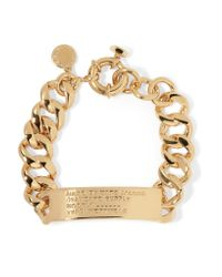 Marc By Marc Jacobs | Metallic Engraved Gold-tone Bracelet | Lyst