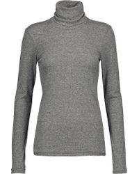 Current/Elliott | Gray Jersey Turtleneck Sweater | Lyst