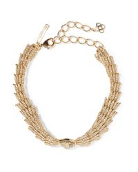 Oscar de la Renta | Metallic Wistera Gold-tone Crystal Necklace | Lyst