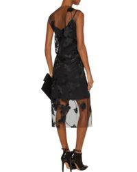 Marques'Almeida - Black Embroidered Tulle Midi Dress - Lyst
