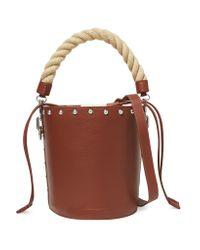 J.W.Anderson - Brown Stud-embellished Leather Bucket Bag - Lyst