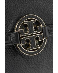 Tory Burch - Black Amanda Mini Textured-leather Tote - Lyst