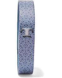 Tory Burch | Blue +fitbit Flex Printed Rubber Bracelet | Lyst