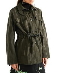 Proenza Schouler - Printed Cotton-canvas Jacket Army Green - Lyst