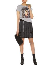Vivienne Westwood Anglomania - Gray Printed Cotton-jersey Slub T-shirt - Lyst