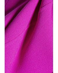 Oscar de la Renta - Purple Wool-blend Crepe Mini Dress - Lyst