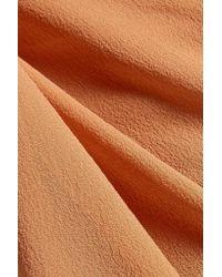 Rick Owens - Brown Cotton-blend Trimmed Silk-chiffon Skirt - Lyst