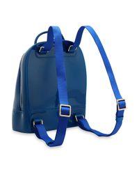 Furla - Blue Leather-trimmed Pvc Backpack - Lyst