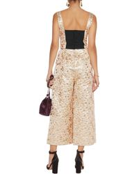 Dolce & Gabbana - Metallic Embroidered Faille Jumpsuit - Lyst