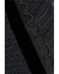 Temperley London - Woman Dragon Metallic Embroidered Satin-paneled Wool Coat Black - Lyst