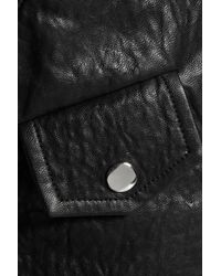 IRO - Black Julyet Faux Textured-leather Biker Jacket - Lyst