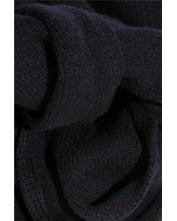 Totême  | Blue Vervier Ribbed Merino Wool And Cashmere-blend Scarf | Lyst
