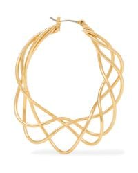 Kenneth Jay Lane - Metallic Gold-plated Hoop Earrings - Lyst